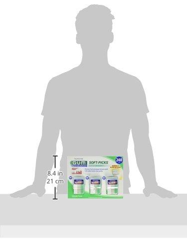 HEALTHY GUMS, HEALTHY LIFE Soft-Picks, 3 Convenient Travel Cases, 240 Soft Picks by Gum (Image #2)