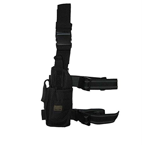 Left Handed Tornado Tactical Army SWAT Black Pistol Hand Gun Drop Leg Holster