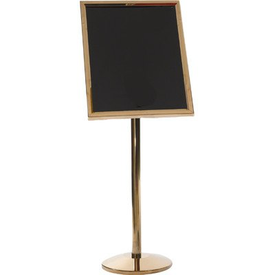 Single Pedestal Broadcaster Base and Frame Color: Brass ()