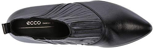 Stretch Shape Pointy Fired ECCO Boots Block Women's Ankle Black 45 Brick 4qZwFU1