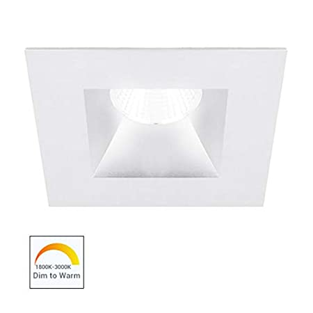 White WAC Lighting R3BSD-NWD-WT Oculux 3.5 LED Dead Front Open Reflector Trim with Dim to Warm Light Engine Trim /& LED Narrow-25 Degrees