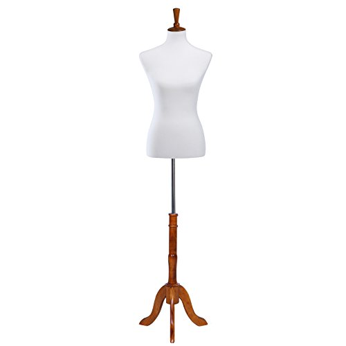- SONGMICS Female Mannequin Torso Body Dress Form with Adjustable Tripod Stand, Medium Size 6-8, 34
