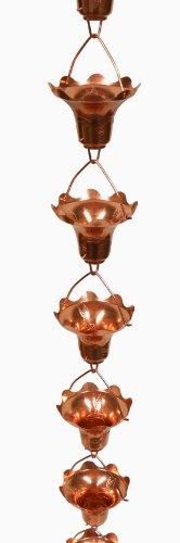 Stanwood Rain Chain Copper Rain Chain Hummingbird and Flower Decor Extension, (Copper Rain Chain Extensions)