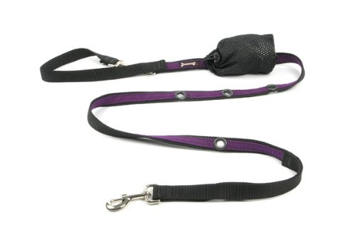 Poochy Pouch (Smoochy Poochy 2Tone Hands-Free Leash - Black Purple)