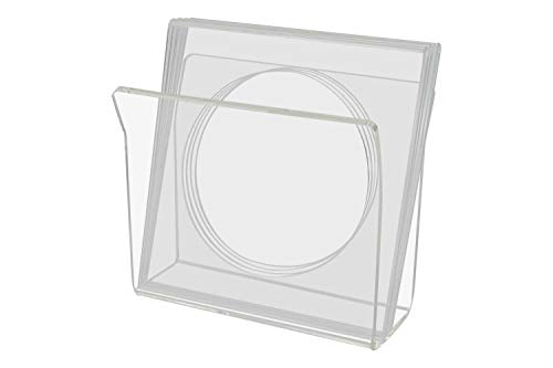 Marketing Holders U-Shape Napkin Holder with Cocktail Napkin Holders 5 Piece Set 1 Holder & 4 Coasters that Hold Napkins Pack of 4 Clear Acrylic Upright Tabletop Stand