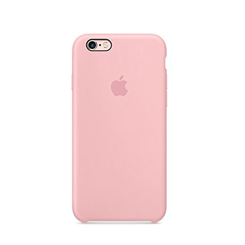 Iphone Pink Silicone (Optimal shield Soft Leather Apple Silicone Case Cover for Apple iPhone 6 /6s (4.7inch) Boxed- Retail Packaging (Pink))