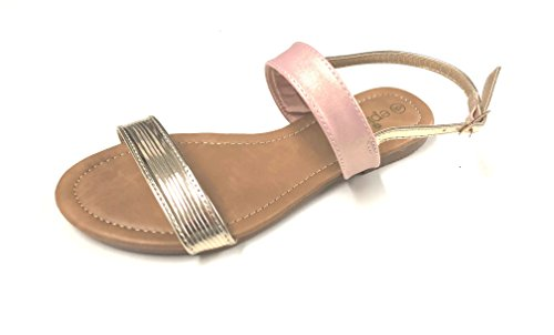 25803c8a1 Emma Shoes Woman s Double Straps Summer Flat Sandals - Buy Online in Oman.