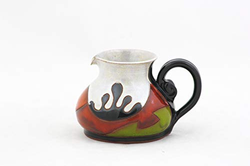 Pottery Coffee creamer 6.7, Ceramic Milk Jug for Cream, Gravy, Sauce, Salad & Condiment, Stoneware Small Jug 200ml, Valentine's day gift
