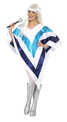 (Smiffys Women's Super Trooper Poncho, 70 Disco, Serious Fun, One Size,)