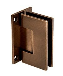 C.R. LAURENCE GEN037ABRZ CRL Antique Bronze Geneva 037 Series Wall Mount Full Back Plate Standard Hinge 037 Series Antique