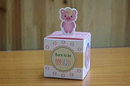 SHthree 20 unids/Set Kawaii Animal Caja de Dulces Baby Shower ...