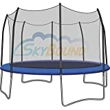 15' Trampoline Enclosure Safety Net for 8 Straight Curved Poles fits Skywalker by SkyBound