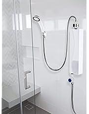 Ruisyi Elektrische mini-boiler, automatische mini-doorstroomboiler, waterverwarming, voor keuken, badkamer, 220 V, 3000 W (wit)