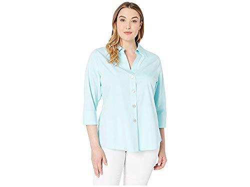 Foxcroft Women's Plus Size Non-Iron Essential Paigely Shirt, Oasis, 22W