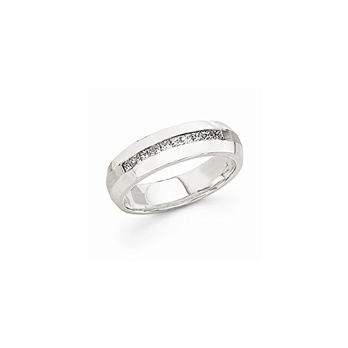 JewelrySuperMart Collection 1/2 CT 14k White Gold AA Diamond Men's Band. 0.5 ctw. Size 9