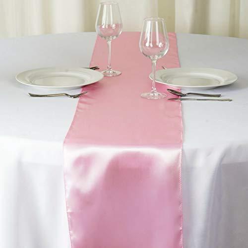 Mikash 12 x 108 Satin Table Runner Wedding Party Dinner Table Supply Decorations Sale | Model WDDNGDCRTN - 1948 | 36 pcs