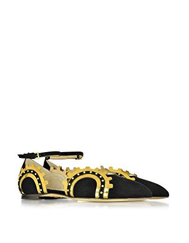 Charlotte Olympia Sandali Donna P164871002 Pelle Nero/Oro