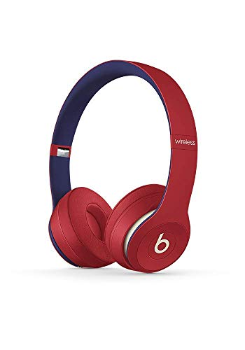 Beats Solo3 Wireless On-Ear Headphones – Beats Club Collection – Club Red (Renewed)