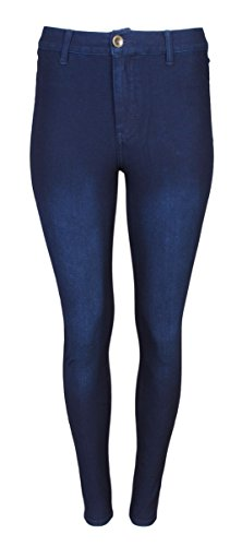 Lolo Jeans Women\'s Stretch Yoga Denim Pants With Low Button, Dark Wash, Size Med'
