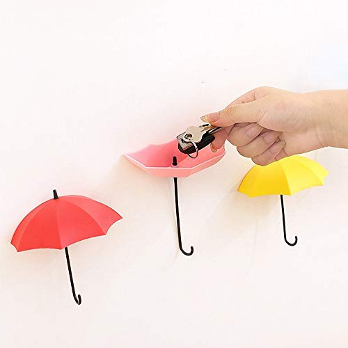 Euone  Wall Hooks Clearance ,3pcs/Set Cute Umbrella
