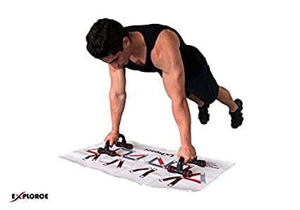 EXPLORCE Upper-Body Definition I Pushup Handles Training System I Pumped  Chest, Good-Looking Round Shoulders and Nice Defined Triceps