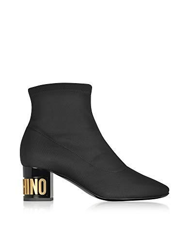 Noir Ma21095m06mo0000 Bottines Femme Moschino Polyester S1pqXq8wx