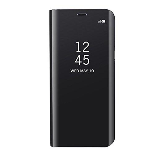 Huawei Mate 10 Lite Inteligente Funda, Vandot Completo Clear View Standing Cover Flip Funda Carcasa con Función Kickstand [Soporte Sleep/Wake UP] Ultra Delgado Slim Translúcido Tapa Espejo Smart Cover Clear View-3