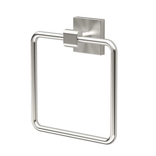 Gatco 4072 Elevate Towel Ring, Satin Nickel