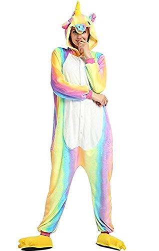 Women's Sleepwear Unisex-Adult Unicorn Pajamas Animal Onesie Halloween Xmas Cosplay Costumes (Size M for 62-66