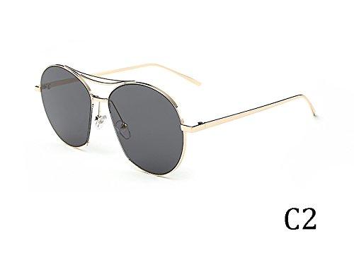 Tonos De De TIANLIANG04 Gafas Espejo Sol 935C5 Bastidor Metal Uv400 935C2 Grande Mujeres Gafas Vintage En SSP0q5w