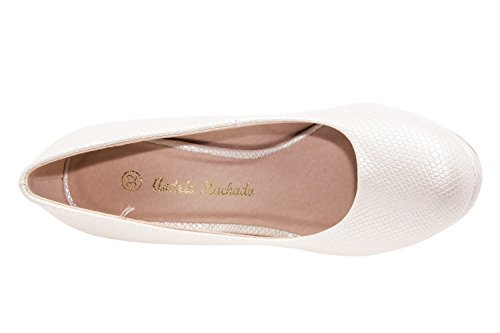 Zeppa Andres Con Engraved Machado White Donna Sandali qPtTP