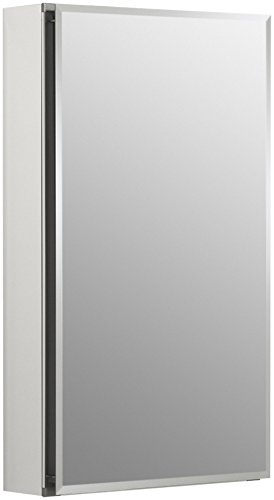 S Frameless 15 inch x 26 inch Aluminum Bathroom Medicine Cabinet; ; Recess or Surface Mount ()