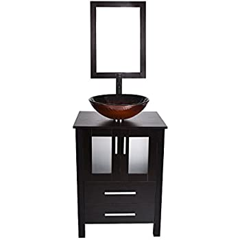 24-Inch Bathroom Vanity, Modern Stand Pedestal Cabinet ...