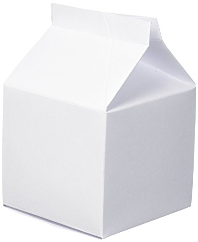 Darice 30027796 White Party Favor Milk Cartons, 24 Piece