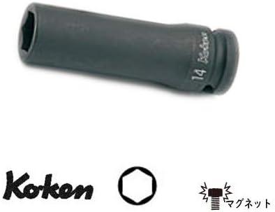 """コーケン 1/2""""(12.7mm)SQ. インパクト6角ディープソケット(スライドマグネット付) 15mm 14300G-15"""