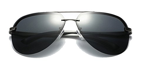 Designer Inspired Classic Half Frame Horned Rim Wayfer Sunglasses GUN / - Coupons In Store Hut Sunglass