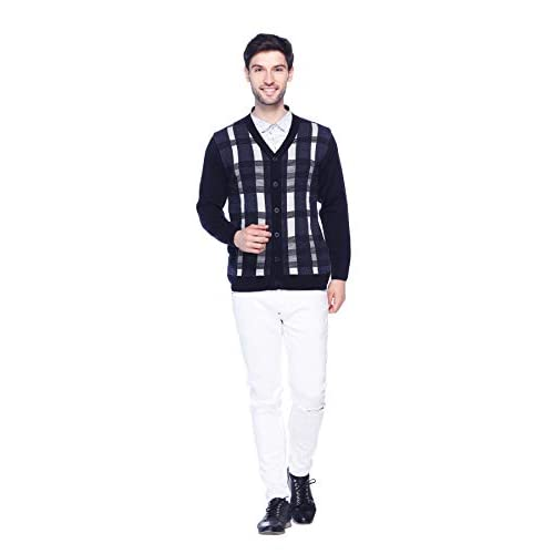 31G4bWiLhzL. SS500  - aarbee Men's Full Sleeve Button Sweater