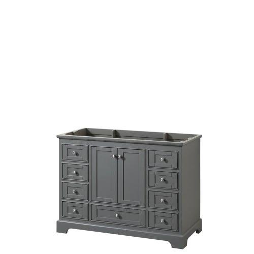 CS202048SKGCXSXXMXX Deborah Single Vanity Cabinet, No Countertop, No Sink, and No Mirror, 48