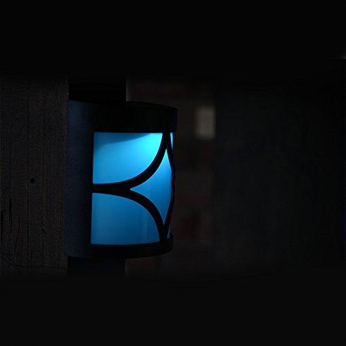 Etbotu Exquisite Waterproof LED Solar-Powered Yard Lamp Garden Wall Light Decoration by Etbotu (Image #3)