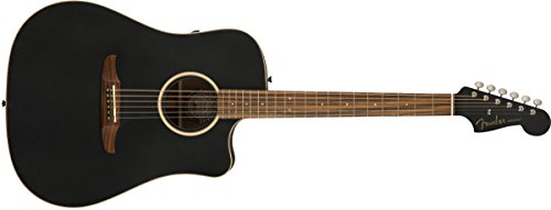 Fender Redondo Special – California Series Acoustic Guitar – Matte Black Finish with Gig Bag