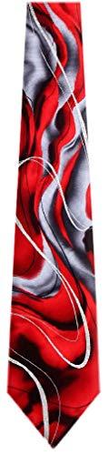 (JG7031  Jerry Garcia Mens Fashion Designer Brand Silk Necktie Ties , One Size , Red Burgundy Gray Blackjg7032)
