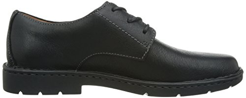 Clarks Stratton Way - zapatos con cordones de cuero hombre negro