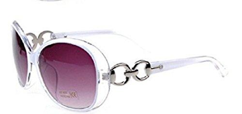 Blanco Polarizado Grande Retro Uv400 Gafas sol M2 Mujer de Vintage qHazRxCw