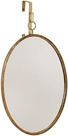 Sagebrook Home WM10160-02 Metal Glass Wall Mirror, Gold Metal, 16 x 0.75 x 25.5 Inches