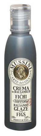 Italian Natural Flavored Fig Balsamic Glaze from Mussini, 16.9 Ounces