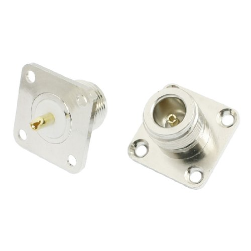 uxcell 2 x N Female Jack Panel Mount Chassis PCB RF Connector Adapter