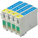 Epson Compatible 4 x T1282 High Yield Compatible Cyan Cartridges