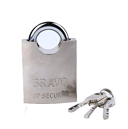 Solid Brass Padlock - Stainless Steel Shackle - rustproof Safety Door Lock