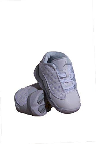 Jordan Retro 13 Low Pure Platinum White/Metallic Silver (Toddler) (10 M US Toddler) by NIKE