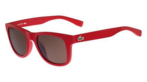 Lacoste Unisex L790S Rectangular Sunglasses, Matte Red, 52 mm